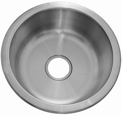 "17"" Ellis Undermount Round Stainless Steel Small Single Bowl Sink 18 Gauge EL-1717"