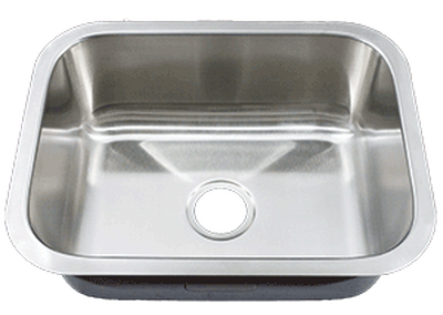 "23"" Ellis Undermount Stainless Steel Small Single Bowl Sink     18 Gauge EL-2318"