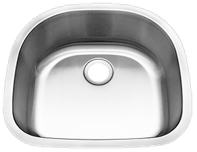 "23"" Ellis Undermount Stainless Steel Small Single Bowl Sink     18 Gauge EL-2321"
