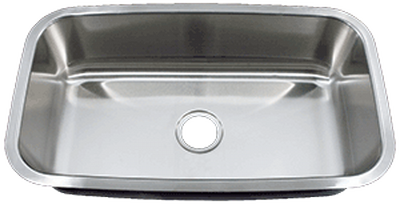"31"" Ellis Undermount Stainless Steel Large Single Bowl Sink   9"" Depth  18 Gauge EL-3118"