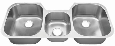 """46"""" Ellis Undermount Stainless Steel Triple Bowl 3 compartment Sink 18 Gauge EL-4621"""