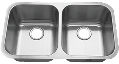 "31"" Ellis 50/50 Undermount Stainless Steel Double Bowl Kitchen Sink 18 Gauge EL-5050"