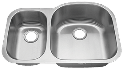 "31"" Ellis 30/70 Undermount Stainless Steel Double Bowl Kitchen Sink 16 Gauge EL-V004R"