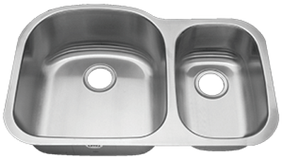 "31"" Ellis 70/30 Undermount Stainless Steel Double Bowl Kitchen Sink 16 Gauge EL-V004"