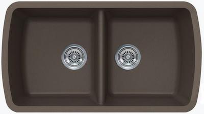 """33"""" Lexington Undermount Composite Granite  Double Bowl Sink 313-DOM MOCHA"""