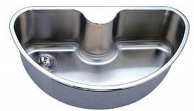 "34"" Italia Top-Mount or Undermount Stainless Steel Single Bowl Sink IT-1000"
