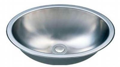 "18"" Italia OvalTop-Mount or Undermount Stainless Steel Bathroom Vanity Sink IT-SV-13"