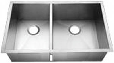 "33"" Zero Radius Undermount Stainless Steel Double Bowl Sink 40/60 15 Gauge ZR-3320A-Reverse"