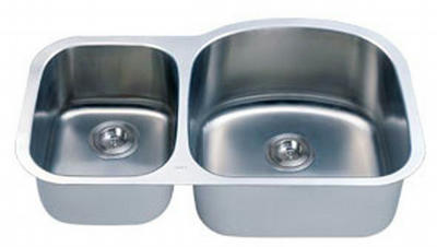 "32"" Italia Undermount Stainless Steel Double Bowl Kitchen Sink IT-100MD with FREE ACCESSORIES"
