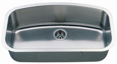 "34"" Italia Large Undermount Stainless Steel Single Bowl Kitchen Sink IT-200-L with FREE ACCESSORIES"
