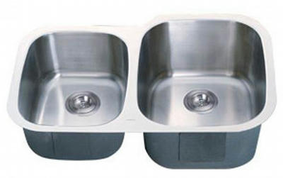 "32"" Italia Undermount Stainless Steel Double Bowl Kitchen Sink IT-300SD with FREE ACCESSORIES"