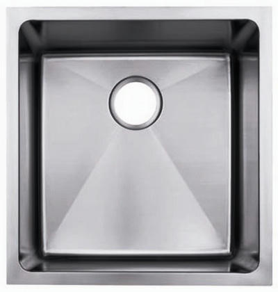 "19"" Near-Zero Radius Undermount Stainless Steel Single Bowl Kitchen, Bar, Prep Sink 15 gauge NZR-1920"