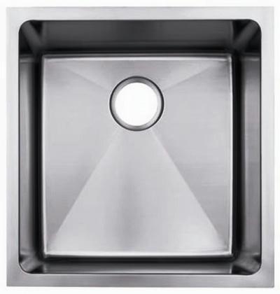 """19"""" Near-Zero Radius Undermount Stainless Steel Single Bowl Kitchen, Bar, Prep Sink 15 gauge NZR-1920"""