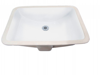 "Sienna 21"" bathroom vanity sink - porcelain china undermount 2214 - White or Bisque"