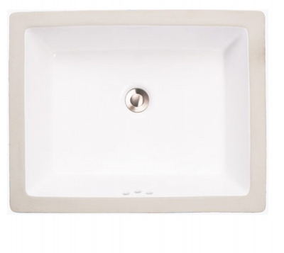 "Sienna 19"" bathroom vanity sink -  porcelain china undermount 2330 - White or Bisque"