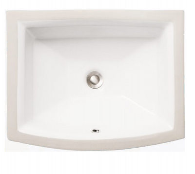 "Sienna 19"" bathroom vanity sink -  porcelain china undermount 2355 - White or Bisque"