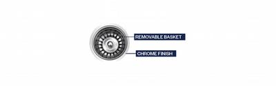 """Strainer Basket Assembly Chrome 3 1/2"""""""