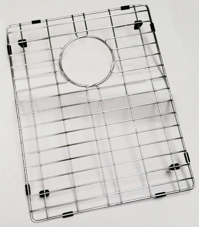 Stainless Steel Sink Grid For Single Bowl Bar Sinks Zero and Near Zero Radius under 27""