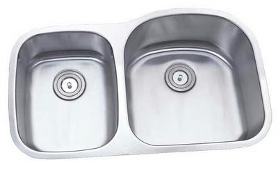 "34"" Torino Undermount Stainless Steel Double Bowl Kitchen Sink 16 Gauge Torino-212L - WITH FREE ACCESSORIES"
