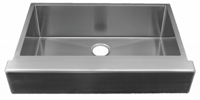 "30"" ""Trim Conceal"" Undermount Apron Flat Front Stainless Steel Single Bowl Sink designed for a 30"" Standard Sink Base Cabinet NZR-3022-TCA"