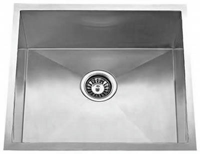 "18"" Zero Radius Undermount Stainless Steel Single Bowl Sink 15 Gauge ZR1818"