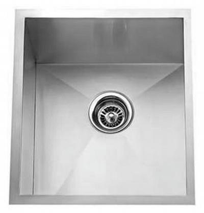 "19"" Zero Radius Undermount Stainless Steel Single Bowl Sink 15 Gauge ZR1920"
