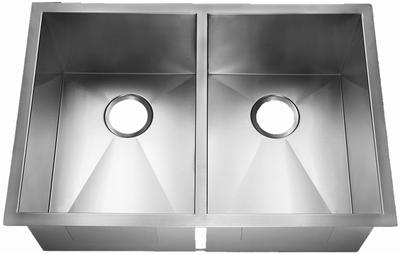 """29"""" Zero Radius Undermount Stainless Steel Double Bowl Kitchen Sink 15 Gauge ZR-2920"""