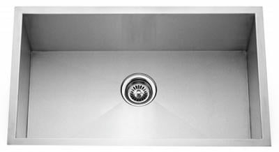 "30"" Zero Radius Undermount Stainless Steel Single Bowl Sink 15 Gauge ZR3018"