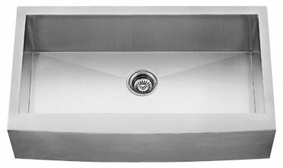"30"" Zero Radius Curved Front Stainless Steel Single Bowl Apron Sink ZRA3021"