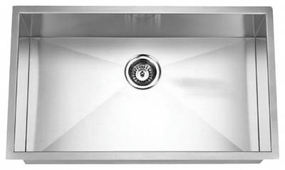 "32"" Zero Radius Undermount Stainless Steel Single Bowl Sink 15 Gauge ZR3219"