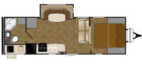 2015 Wilderness 2450FB Floor Plan