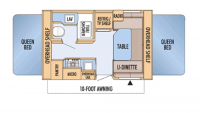2009 Jay Feather EXP 17C Floor Plan