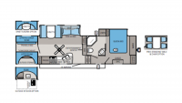 2013 Eagle 33.5QBDS Floor Plan
