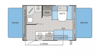 2016 Jay Feather X17Z Floor Plan