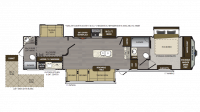 2018 Avalanche 395BH Floor Plan