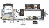 2018 Rockwood Signature Ultra Lite 8335BSS Floor Plan