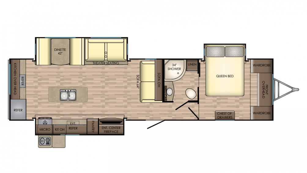 2018 Sunset Trail Grand Reserve 33CK Floor Plan Img