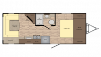 2018 Sunset Trail Super Lite 200RD Floor Plan