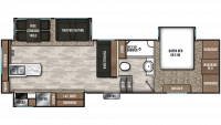 2019 Chaparral 27RKS Floor Plan