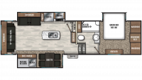 2019 Chaparral 298RLS Floor Plan