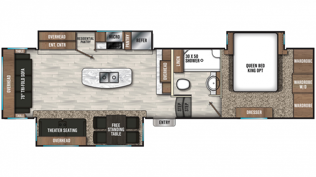 2019 Chaparral 336TSIK Floor Plan Img