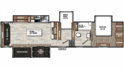 2019 Chaparral 360IBL Floor Plan Img