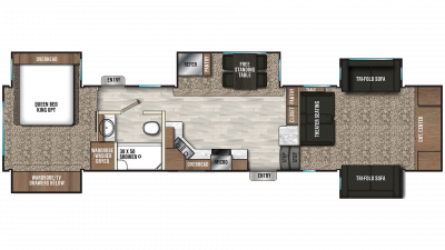 2019 Chaparral 370FL Floor Plan Img