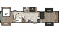 2019 Chaparral 370FL Floor Plan