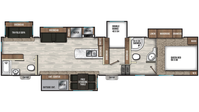 2019 Chaparral 373MBRB Floor Plan