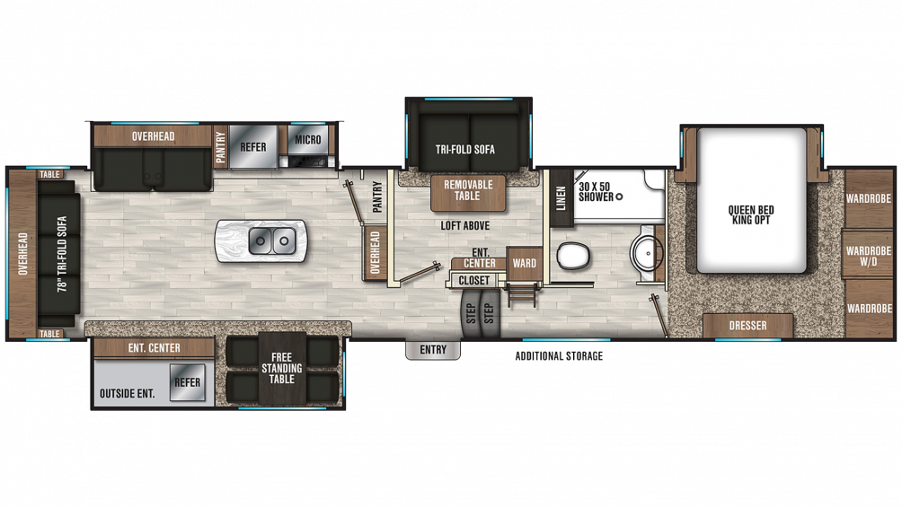 2019 Chaparral 392MBL Floor Plan Img