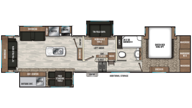 2019 Chaparral 392MBL Floor Plan