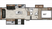 2019 Chaparral Lite 285RLS Floor Plan