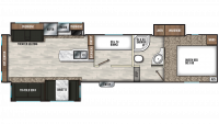 2019 Chaparral Lite 30BHS Floor Plan