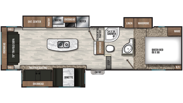2019 Chaparral Lite 30RLS Floor Plan